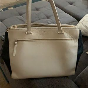 Kate Spade pebbled leather colorblock tote